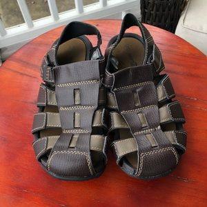 Smartfit Boys Brown Faux Leather Fisherman Sandals